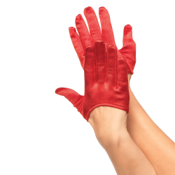 MINI GANTS ROUGES EN SATIN...