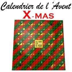 """CALENDRIER DE L AVENT """"X-MAS"""""""